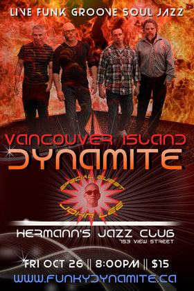 VANCOUVER ISLAND DYNAMITE @ Hermann's Jazz Club Oct 26 2018 - Dec 10th @ Hermann's Jazz Club