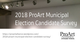 2018 ProArt Municipal Election Candidate Survey @ ProArt website Oct 8 2018 - May 19th @ ProArt website