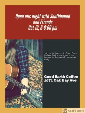 @ Good Earth Coffeehouse Oct 19 2018 - May 19th @ Good Earth Coffeehouse