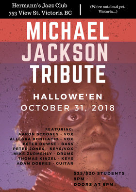 Halloween Party: Michael Jackson Tribute f. Aaron Scoones and Peter Dowse @ Hermann