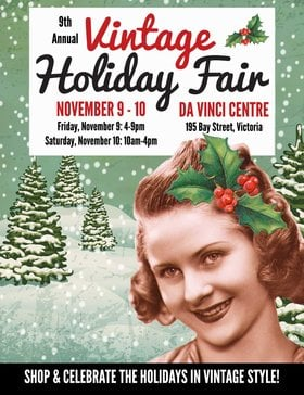9th Annual Vintage Holiday Fair – Festive Fun for All! @ Leonardo da Vinci Centre Nov 9 2018 - Dec 13th @ Leonardo da Vinci Centre