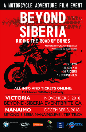 Beyond Siberia, Riding the Road of Bones @ Dave Dunnet Theatre Nov 5 2018 - Jan 16th @ Dave Dunnet Theatre