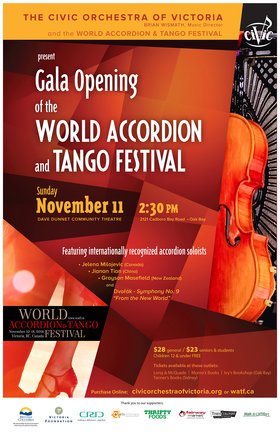DANCE: Gala Opening of the World Accordion & Tango Festival: The Civic Orchestra of Victoria @ Dave Dunnet Theatre Nov 11 2018 - Mar 20th @ Dave Dunnet Theatre