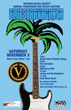 Bluestravaganza: Paul Black Band, Jonny and The Kingbees, McKinley Wolf, The Variables, The South Island Rhythm Kings @ V-lounge Nov 3 2018 - Dec 13th @ V-lounge