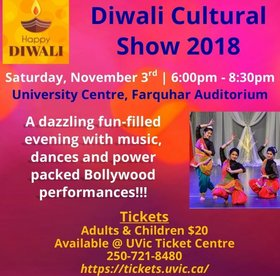 Diwali Cultural Show @ The Farquhar at UVic Nov 3 2018 - Jan 20th @ The Farquhar at UVic