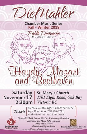 Haydn, Mozart and Beethoven Program: DieMahler  Ensemble @ St. Mary