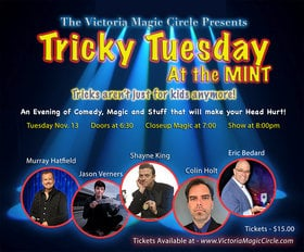 Tricky Tuesday @ The Mint Nov 13 2018 - Apr 19th @ The Mint