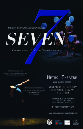 SEVEN-Broken Rhythms Dance presents @ Metro Studio Nov 30 2018 - Jan 16th @ Metro Studio