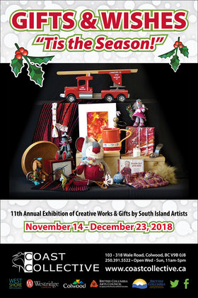 Gifts and Wishes @ Coast Collective Gallery & Art Centre Nov 14 2018 - Dec 18th @ Coast Collective Gallery & Art Centre