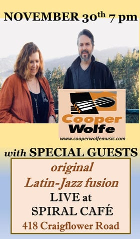Original Latin Jazz Fusion: Cooper Wolfe  @ Spiral Cafe Nov 30 2018 - Jan 16th @ Spiral Cafe