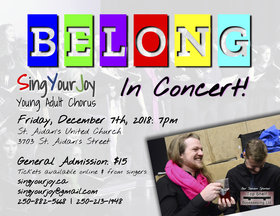 BELONG: SingYourJoy in Concert!: SingYourJoy Young Adult Chorus @ St. Aidan