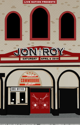 Jon and Roy @ Commodore Ballroom Apr 6 2019 - Aug 25th @ Commodore Ballroom