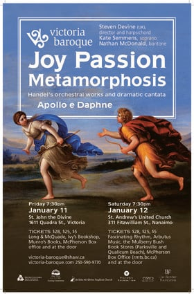 Joy, Passion, Metamorphosis: Victoria Baroque @ St. John The Divine Jan 11 2019 - Jan 18th @ St. John The Divine