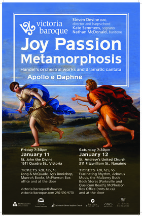 Joy, Passion, Metamorphosis: Victoria Baroque @ St. John The Divine Jan 11 2019 - Jan 21st @ St. John The Divine