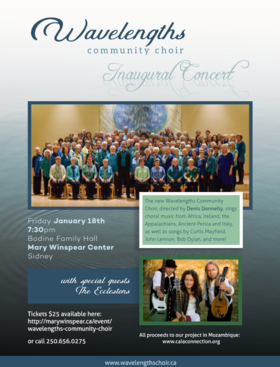 Wavelengths Community Choir @ Bodine Family Hall, Mary Winspear Center Jan 18 2019 - Jan 19th @ Bodine Family Hall, Mary Winspear Center