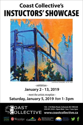 Coast Collective Instructor Showcase @ Coast Collective Art Centre Jan 2 2019 - Jan 19th @ Coast Collective Art Centre