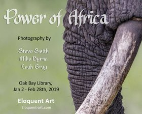Power of Africa: Leah Gray, Steve Smith, Mike Byrne @ Oak Bay Library Jan 2 2019 - Jun 17th @ Oak Bay Library