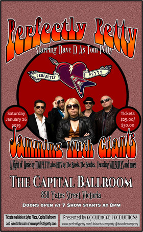 Jamming with Giants: Perfectly Petty performs Music of Tom Petty @ Capital Ballroom Jan 26 2019 - Feb 23rd @ Capital Ballroom