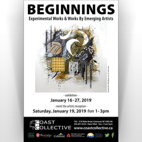 Beginnings @ Coast Collective Art Centre Jan 16 2019 - Jun 16th @ Coast Collective Art Centre