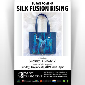 Susan Romphf: Silk Fusion Rising: Susan Romphf @ Coast Collective Art Centre Jan 16 2019 - Jun 16th @ Coast Collective Art Centre