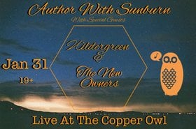 Author with Sunburn , Wildergreen,  The New Owners @ Copper Owl Jan 31 2019 - Jun 19th @ Copper Owl
