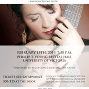 "Iliana Matos @ ""Phillip T. Young Recital Hall, University of Victoria B125, Mac Feb 15 2019 - Feb 22nd @ ""Phillip T. Young Recital Hall, University of Victoria B125, Mac"