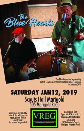 The Blue Hearts: The Blue Hearts @ Marigold Boy Scout Hall Jan 12 2019 - Jan 19th @ Marigold Boy Scout Hall