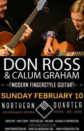 Modern Fingerstyle Guitar: Don Ross , Calum Graham @ Northern Quarter Feb 10 2019 - Jun 26th @ Northern Quarter