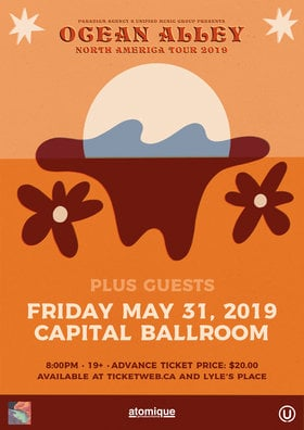 Ocean Alley, Guests @ Capital Ballroom May 31 2019 - Feb 23rd @ Capital Ballroom