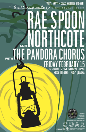 bodiesofwater Vinyl Release Show: Rae Spoon, Northcote, The Pandora Chorus @ Blue Bridge at the Roxy Feb 15 2019 - Mar 18th @ Blue Bridge at the Roxy