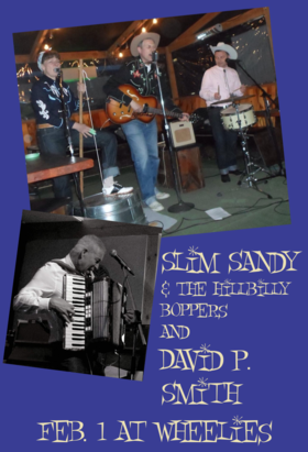 Slim Sandy and the Hillbilly Boppers, David P. Smith @ Wheelies Motorcyles Feb 1 2019 - Jun 17th @ Wheelies Motorcyles