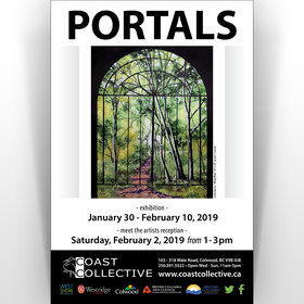 Portals @ Coast Collective Art Centre Jan 30 2019 - Jun 17th @ Coast Collective Art Centre