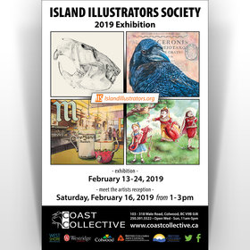 Island Illustrators Society – 2019 Exhibition @ Coast Collective Art Centre Feb 13 2019 - Jun 18th @ Coast Collective Art Centre