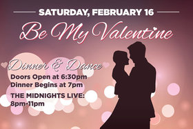 Be My Valentine: The Midnights, Jon Baglo, Nick La Riviere, Eric Emed @ Elements Casino - Victoria Feb 3 2019 - Jun 19th @ Elements Casino - Victoria