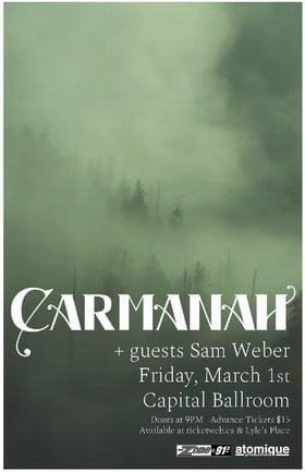 Carmanah, Sam Weber @ Capital Ballroom Mar 1 2019 - Feb 21st @ Capital Ballroom