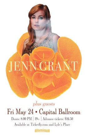 Jenn Grant, Plus Guests @ Capital Ballroom May 24 2019 - Apr 19th @ Capital Ballroom