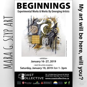 Group show @ Coast Collective Art Centre Jan 16 2019 - Jun 16th @ Coast Collective Art Centre