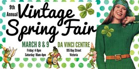 9th Annual Vintage Spring Fair – Go Green! @ Da Vinci Centre, 195 Bay St Mar 8 2019 - Mar 19th @ Da Vinci Centre, 195 Bay St
