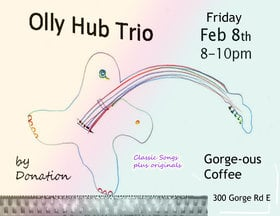 Olly Hub Trio @ Gorge-ous Coffee Mar 9 2019 - Mar 19th @ Gorge-ous Coffee