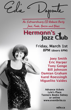 Extraordinary CD Release Party (Hermann's 38th Anniversary Week): Edie DaPonte, Joey Smith, Karel Roessingh, Damian Graham, Miguelito Valdes, Eric Harper, Bill Johnson, Tony Genge @ Hermann's Jazz Club Mar 1 2019 - Feb 22nd @ Hermann's Jazz Club
