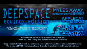 DeepSpace: Equinox Edition: Applecat, Myles Away, Tarantist, KASTASPELL  @ Studio Robazzo Mar 23 2019 - Jul 22nd @ Studio Robazzo