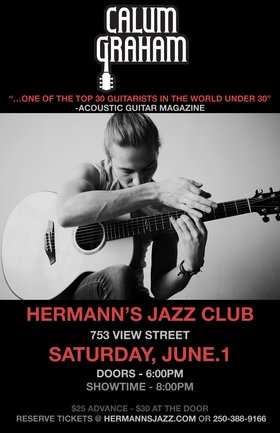 Calum Graham @ Hermann's Jazz Club Jun 1 2019 - Jun 16th @ Hermann's Jazz Club