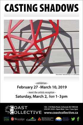 Casting Shadows – Group Exhibition @ Coast Collective Art Centre Feb 27 2019 - Feb 22nd @ Coast Collective Art Centre