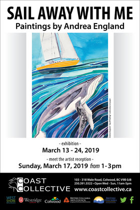 Sail Away With Me: Paintings By A Pacific Voyager: Andrea England @ Coast Collective Art Centre Mar 13 2019 - Feb 19th @ Coast Collective Art Centre