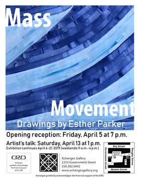 Mass Movement: Esther Parker @ Xchanges Gallery Apr 5 2019 - Mar 19th @ Xchanges Gallery