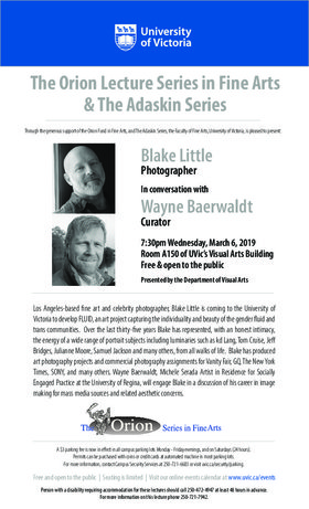 Blake Little in conversation with Wayne Baerwaldt: Blake Little, Wayne Baerwaldt @ UVic Visual Arts Building, Room A150 Mar 6 2019 - Mar 19th @ UVic Visual Arts Building, Room A150