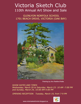 Victoria Sketch Club 110th Annual Art Show and Sale @ Glenlyon Norfolk School Mar 19 2019 - Mar 23rd @ Glenlyon Norfolk School