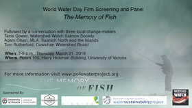 World Water Day Film Screening and Discussion Panel @ Hickman Building, UVIC, Rm 105 Mar 21 2019 - Mar 23rd @ Hickman Building, UVIC, Rm 105