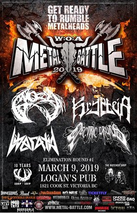 Wacken Metal Battle (Canada): BC, Round 1: Electric Druids, LIBERATIA, Krypteia , Gnosis @ Logan