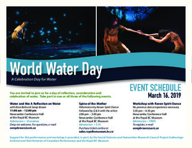Dance for Water-World Water Day: Raven Spirit Dance @ Royal BC Museum Mar 16 2019 - Mar 19th @ Royal BC Museum